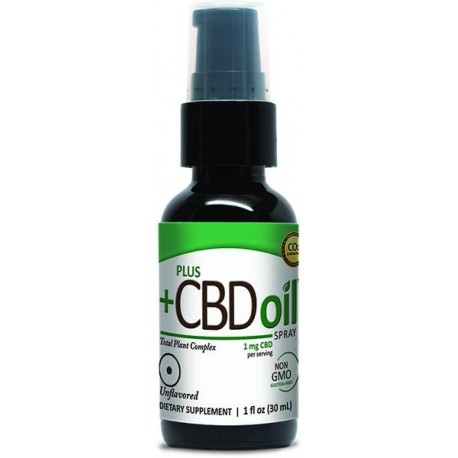 CBD Spray 100 mg Unflavored 1 oz