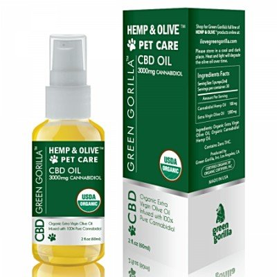 Green Gorilla Hemp CBD Oil For Pets 3000mg 2 OZ