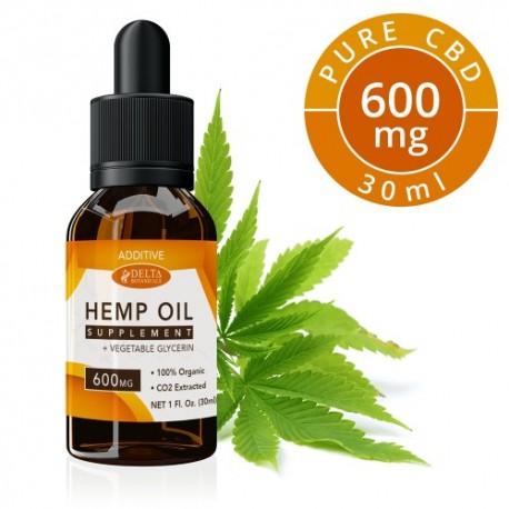 Delta Botanicals Hemp Oil 600mg Additive