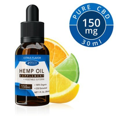 Delta Botanicals Hemp Oil 150 mg Citrus Fruit