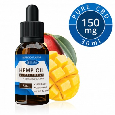 Delta Botanicals Hemp Oil 150 mg Mango