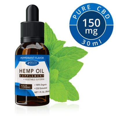 Delta Botanicals Hemp Oil 150mg Peppermint