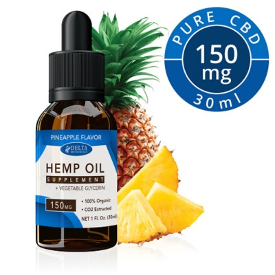 Delta Botanicals Hemp Oil 150mg Pineapple
