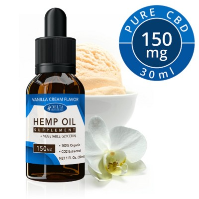 Delta Botanicals Hemp Oil 150mg Vanilla Cream