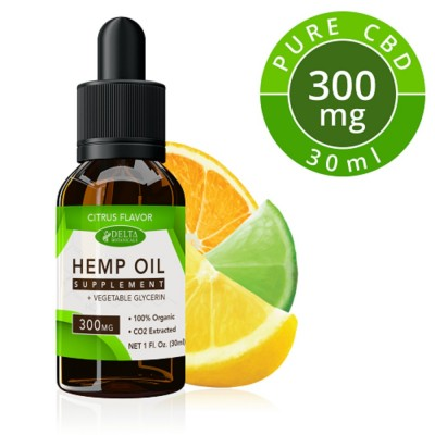 Delta Botanicals Hemp Oil 300mg Citrus Fruit