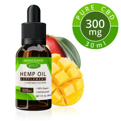 Delta Botanicals Hemp Oil 300mg Mango