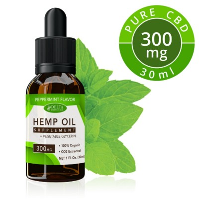 Delta Botanicals Hemp Oil 300 mg Peppermint