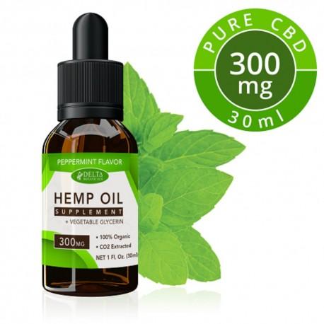 Delta Botanicals Hemp Oil 300 mg Peppermint