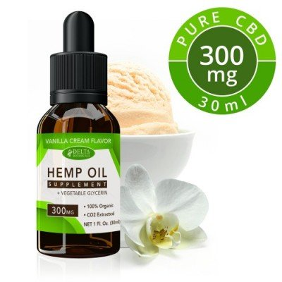 Delta Botanicals Hemp Oil 300mg Vanilla Cream