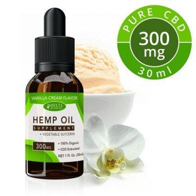 Delta Botanicals Hemp Oil 300mg Vanilla Cream