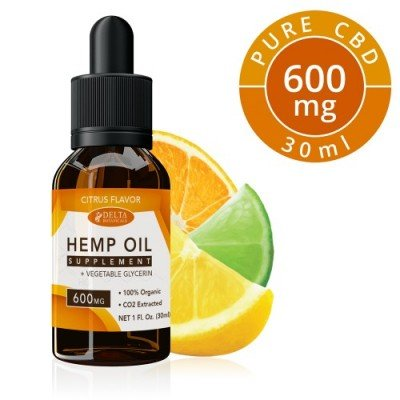 Delta Botanicals Hemp Oil 600mg Citrus Fruit