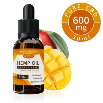 Delta Botanicals Hemp Oil 600mg Mango