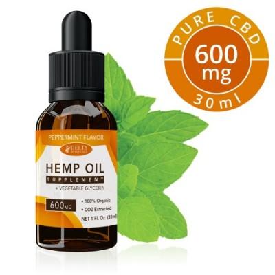 Delta Botanicals Hemp Oil 600mg Peppermint