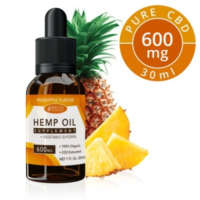 Delta Botanicals Hemp Oil 600mg Pineapple