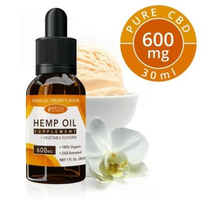 Delta Botanicals Hemp Oil 600mg Vanilla Cream