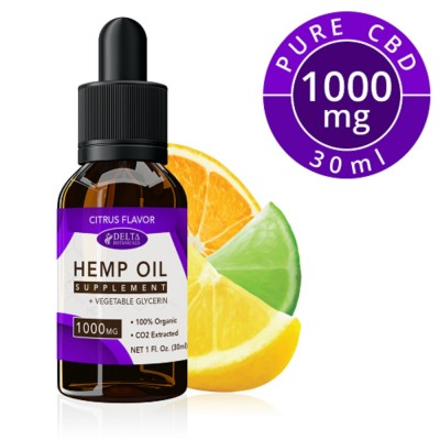 Delta Botanicals Hemp Oil 1000mg Citrus Fruit