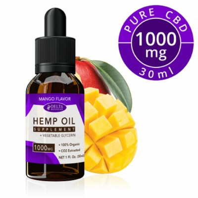 Delta Botanicals Hemp Oil 1000mg Mango