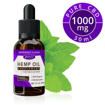 Delta Botanicals Hemp Oil 1000mg Peppermint