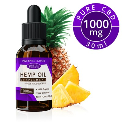 Delta Botanicals Hemp Oil 1000mg Pineapple