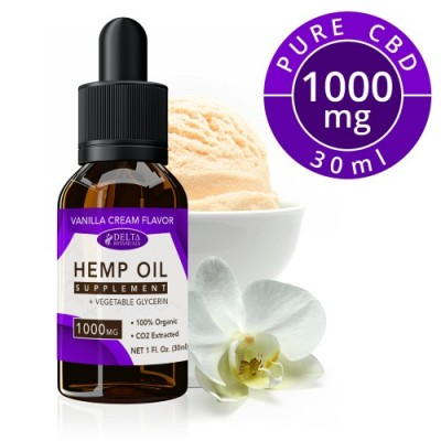 Delta Botanicals Hemp Oil 1000mg Vanilla Cream