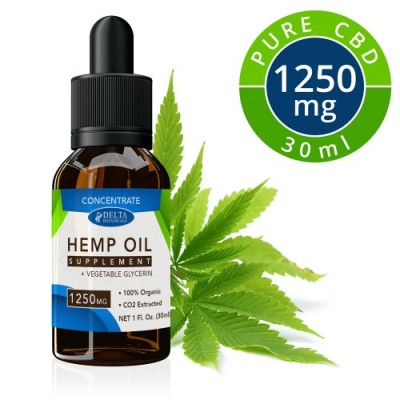 Delta Botanicals Hemp oil 1250mg Concentrate
