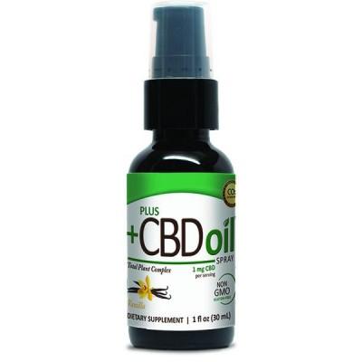 Plus CBD Oil Vanilla Spray 100mg 1 OZ