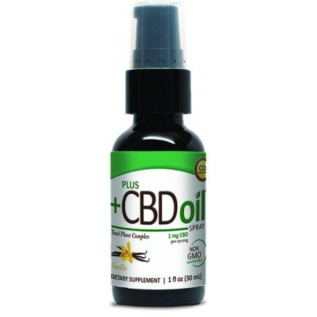 CBD Oil Vanilla Spray 100mg 1 OZ