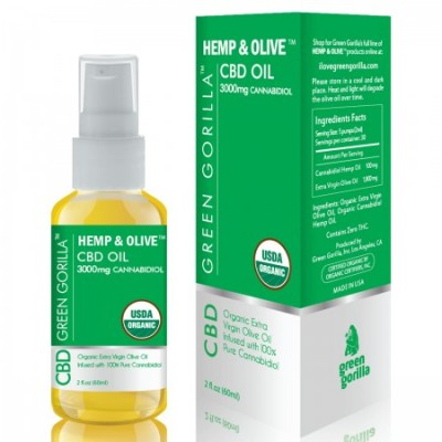 Green Gorilla Hemp CBD Oil Unflavored 3000mg 2 OZ
