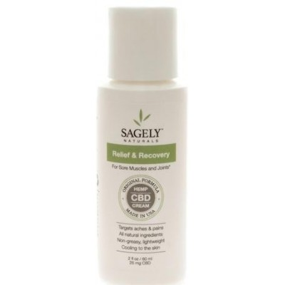 Sagely Naturals CBD Relief and Recovery Cream 2 OZ