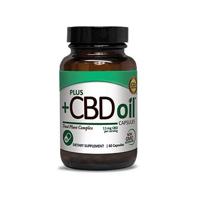 Plus CBD Oil Capsules 15mg 60 CAP