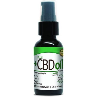 Plus CBD Oil Unflavored Spray 100mg 1 OZ